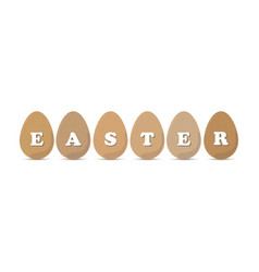 Easter eggs vector