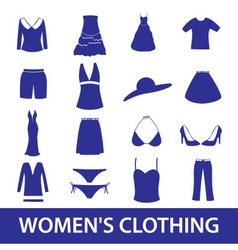 Womens clothing icon set eps10 vector