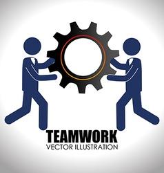 Teamwork design over white background vector