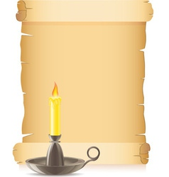 Old paper and candlestick vector