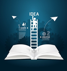 Infographic climbing ladder book diagram vector