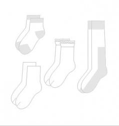 Childrens sock set vector