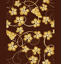 Grapevine seamless pattern vector