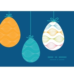 Colorful horizontal ogee hanging easter vector