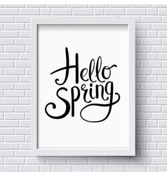 Hello spring greeting card design vector