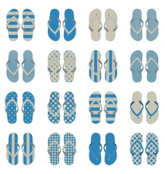 Pop art style flip flops in a colorful vector