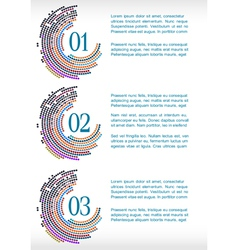 Progress template with abstract mosaic vector