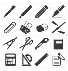 Icon stationary education vector