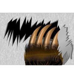 Bear claws tearing wood vector