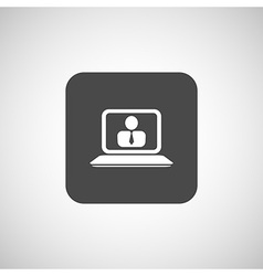 Office work icon icon laptop isolated human vector