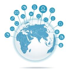 Abstract scheme of social media network vector