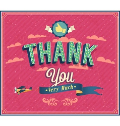 Thank you typographic design vector
