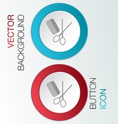 Comb scissors barbershop vector