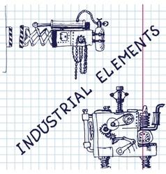 Hand draw retro mechanism eps10 vector