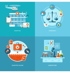 Medical and health icons set for web design mobile vector
