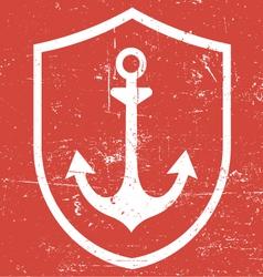 Retro vintage anchor vector