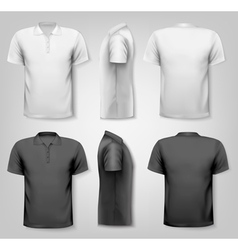 Polo shirts with sample text space vector