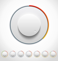Lights knobs set for web and mobile vector