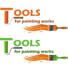 Tools for painting works vector