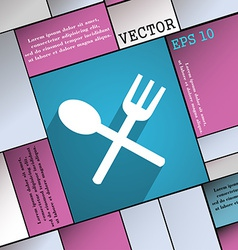 Fork and spoon crosswise cutlery eat icon symbol vector