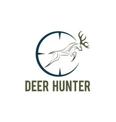 Deer hunter design template vector