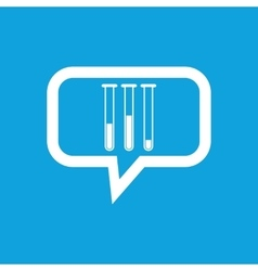 Test-tubes message icon vector