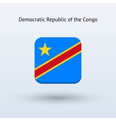 Democratic republic of the congo flag icon vector