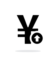 Chinese yuan exchange rate up icon on white vector