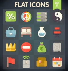 Universal flat icons set for applications 21 vector
