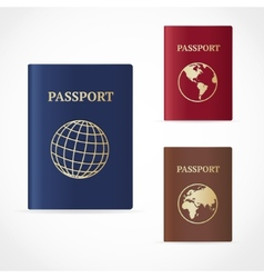 Passport set flat design vector