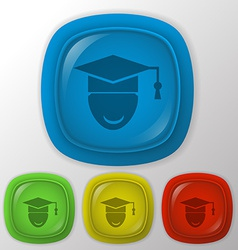 Graduate hat avatar vector