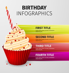 Birthday infographics vector