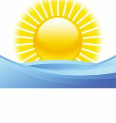 Summer seascape vector