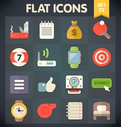 Universal flat icons set for applications 22 vector