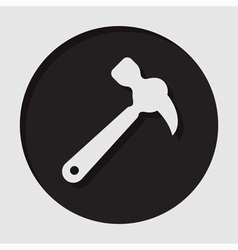 Information icon - white claw hammer vector