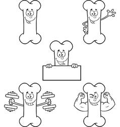 Cartoon bone vector