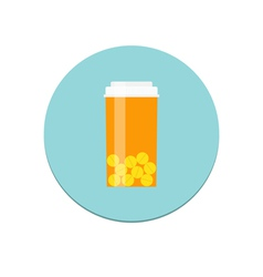 Prescription bottle icon vector