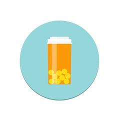 Prescription bottle icon vector