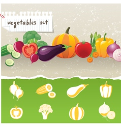 Stylized vegetables icons vector