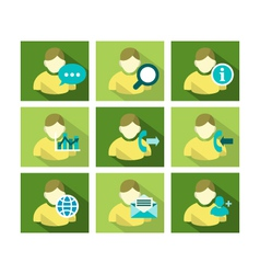 Flat icon design people vector