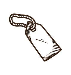 Sale luggage tag symbol vector