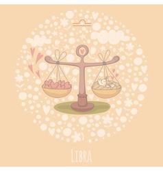 Cartoon of the scales libra vector