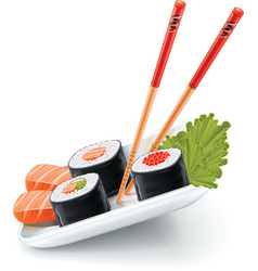 Japanese sushi vector