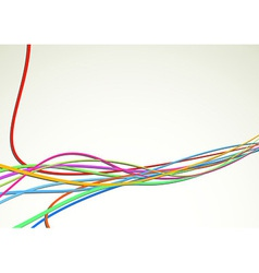 Colorful bright cable background - rapid speed vector