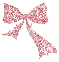 Floral bow vector