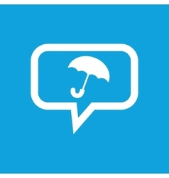 Umbrella message icon vector