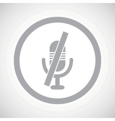 Grey muted microphone sign icon vector