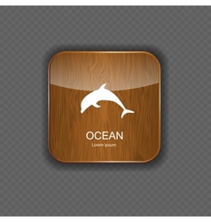 Ocean application icons vector