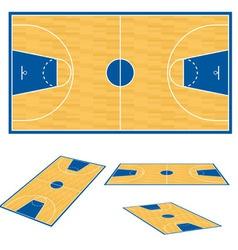 Basketball court floor plan vector