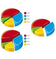 Pie chart graph vector